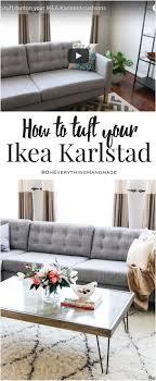 DIY - How to tuft/button your IKEA Karlstad cushions