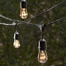 Outdoor strand lighting Outside Image Is Loading 2sets100feetoutdooredisonmetrostring Ebay Sets 100 Feet Outdoor Edison Metro String Strand Lights 35 Sockets