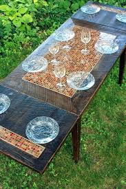 small mosaic table dining tables for spaces tile patio
