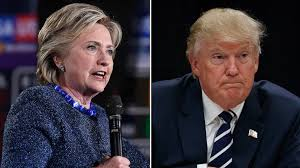 Image result for Clinton/trump