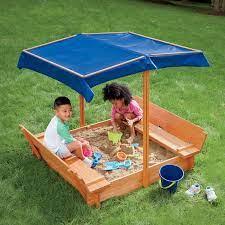 Convertible Sandbox with Sunshade