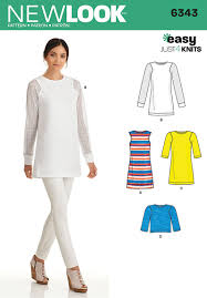 Tunic Sewing Pattern Cool New Look 48 Misses' Knit Tunic In Two Lengths And Top