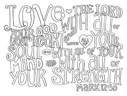 Heart Printable Coloring Pages For Adults Pdf With Ten Commandments