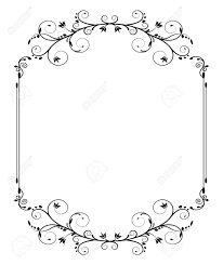vintage black frame. Black Vintage Frame With Thin Swirls On White Background Stock Vector - 27362474