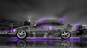 toyota altezza jdm side crystal city car