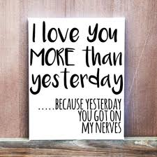 I Love You More Than Yesterday Funny Quote Hand Painted Canvas New Love Quote Canvas