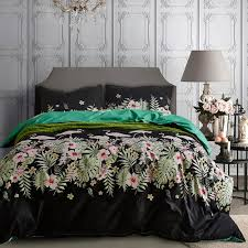 flamingo kids luxury black bedding set twin queen king size bed linens euro quilt cover pillow cover bedspread duvet california king bedding sets