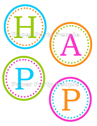 Printable Birthday Banner Letters Download Them Or Print