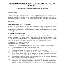 Cover Letter Quantity Surveyor Experience Resumes