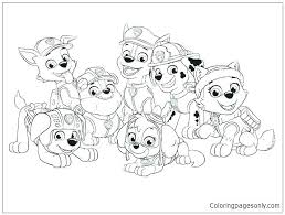 And Paw Patrol Coloring Page Pages Rubble Ring Pictures Full Screen