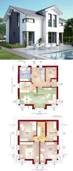Modernes Fertighaus mit Satteldach - Haus Celebration 125 V8 Bien Zenker -  Einfamilienhaus bauen Grundriss modern. Architecture House DesignSims ...