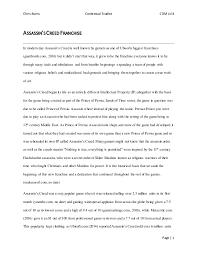 contextual studies essay chris burns contextual studies cdm lvl 4 page 1 assassin screed franchise in modern