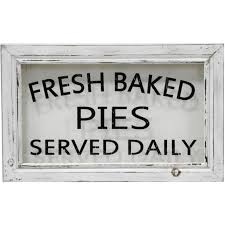 Simply Perfect Rustic Fresh Baked Pies Wood Framed Sign Kitchen