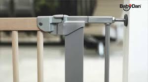 Babydan Designer Wood And Metal Gate Beech Baby Babydan Designer Pressure Fit Safety Door Gate