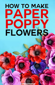 Make A Paper Poppy Flower Make Paper Poppies With Free Templates Free Paper Flower