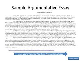 An Example Of An Argumentative Essay Essay Writing Lifespan Development Lab
