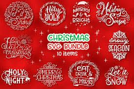 Christmas Svg Bundle 10 Items Graphic By Tatiana Cociorva Creative Fabrica