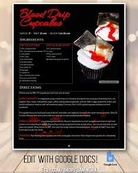 Recipe Template Google Docs Halloween Theme Recipe Book Template With Divider Create Editable