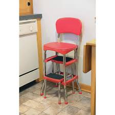 vintage kitchen retro chair bar step stool red video and photos