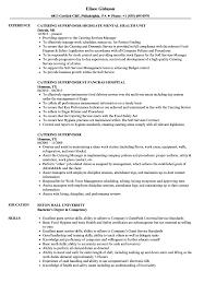 Sample Kitchen Supervisor Resume Catering Supervisor Resume Samples Velvet Jobs 15