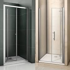 details about aica frameless bifold shower enclosure tray walk in glass door screen cubicle