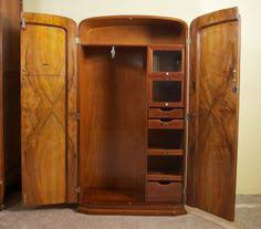 art deco burl walnut french wardrobe armoire image 7 art deco figured walnut wardrobe vintage