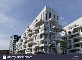 Modern Apartment Buildings Copenhagen Denmark Stock Photo