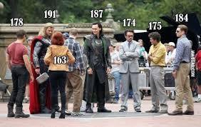 Celebrity Height Chart Tumblr Avengers Actors Height Avengers Actors Actors Height Tom