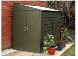 the trimetals titan 960 metal garden shed