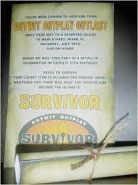 Scroll Birthday Invitations Survivor Party Invitations Custom Survivor Birthday Party Scroll