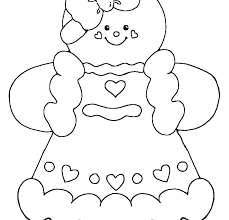 Gingerbread Man Coloring Page Outline Pages Free Of Sheets We Are