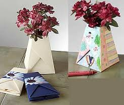 Recycled Flower Paper Recycled Paper Flower Vase