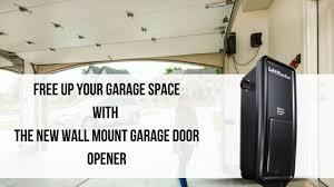 Garage door opener wall mount Interior Texas Overhead Door Save Garage Space With This New Wall Mount Garage Door Opener