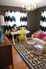 eclectic home office alison. Vivid Patterned Drapes Frame This Eclectic Home Office Alison