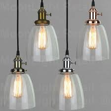 vintage industrial ceiling lamp cafe glass pendant light shade lighting fixture
