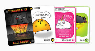 exploding kittens card game.  Game Exploding Kittens Card Game And