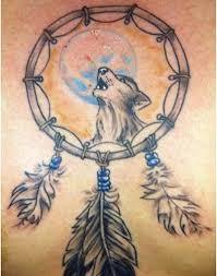 Aztec Dream Catcher Tattoo Wolf dream catcher tattoo design 100 Tattoos Book 6100100 Tattoos 85
