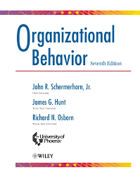 organizational behavior th edition print 2 o rganizational behavior