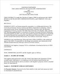 Contract Agreement Template Between Two Parties Sample Business Agreement Between Two Parties 7 Examples