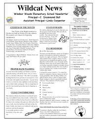 003 School Newsletter Template Free Ideas Ulyssesroom
