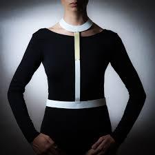 eleanna katsira long collar harness leather tie harness jewel necklace leather harness leather waist belt white leather harness