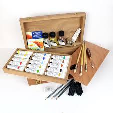 winsor newton kensington oil painting wooden box set