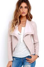 bb dakota arianna blush vegan leather jacket