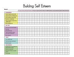 Self Esteem Chart Printable Self Esteem Tracker I Self Esteem Activities
