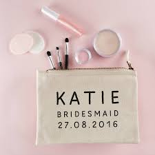 personalised bridesmaid make up bag accessories gifts for bridesmaids