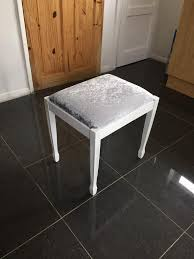 bedroom stool chair. Plain Bedroom Silver Crushed Velvet Dressing Table Bedroom Stool Chair In Stool Chair N