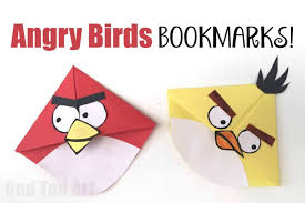 angry bird corner bookmarks these are easy and super fun to make and give close x red ted art tv