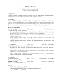 objective objective for secretary resume
