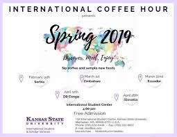 Program Of Events Sample Coffee Hour