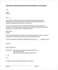 Official Appointment Letters - 8+ Free Samples, Examples Format ...